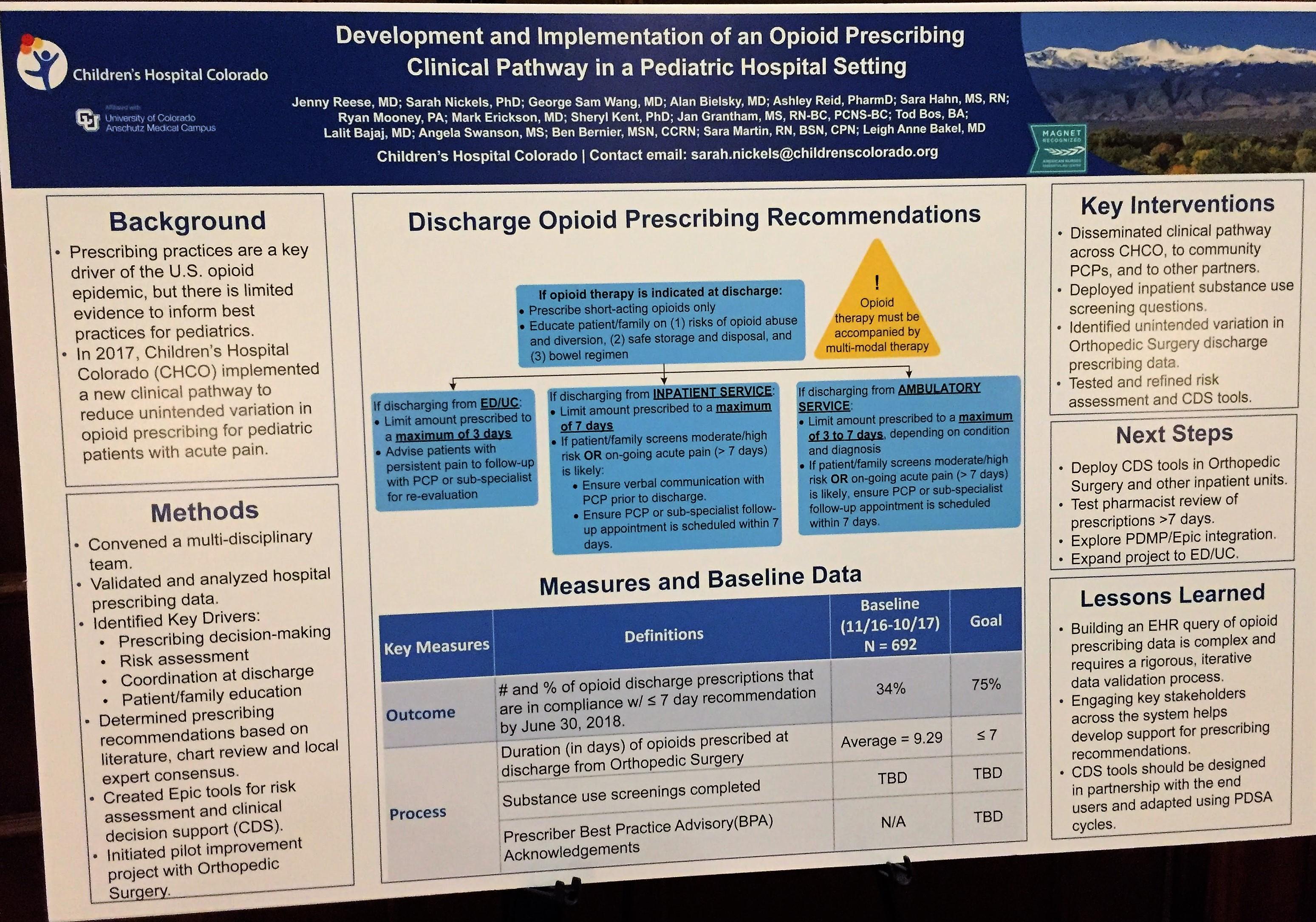 2018 Opioid Summit Speakers/Bios | Colorado Hospital Association